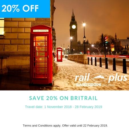 BritRail Early Bird Rail Plus