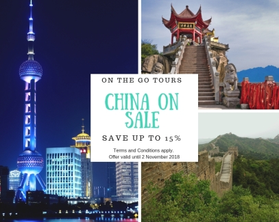 China on sale on the go tours