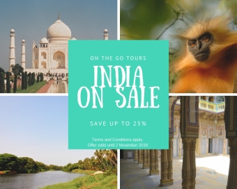 India on sale on the go