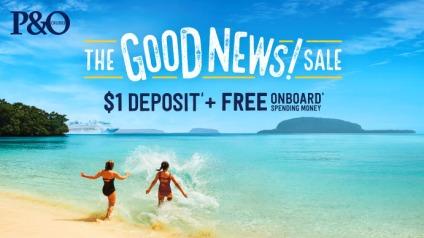 $1 depost & free onboard spending money